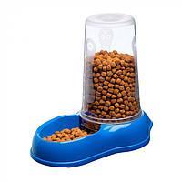 Механическая пластиковая кормушка для сухого корма и воды для кошек и собак Ferplast AZIMUT, фото 1