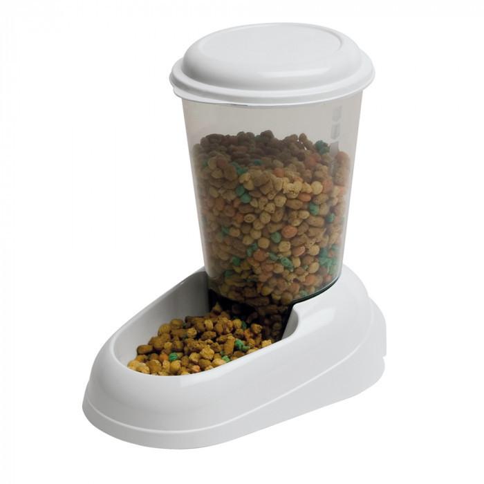 Механическая пластиковая кормушка для сухого корма для кошек и собак Ferplast ZENITH