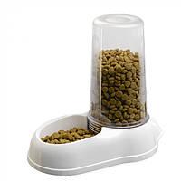 Механическая пластиковая кормушка для сухого корма и воды для кошек и собак Ferplast AZIMUT 5500, фото 1