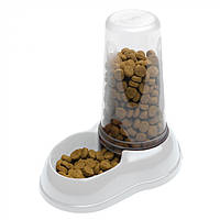 Механическая пластиковая кормушка для сухого корма и воды для кошек и собак Ferplast AZIMUT 1.5 л, фото 1