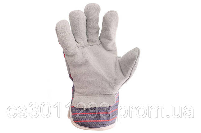 """Перчатки Intertool - замшевые комбинированные утепленные 27 см х 10,5"""", фото 2"""