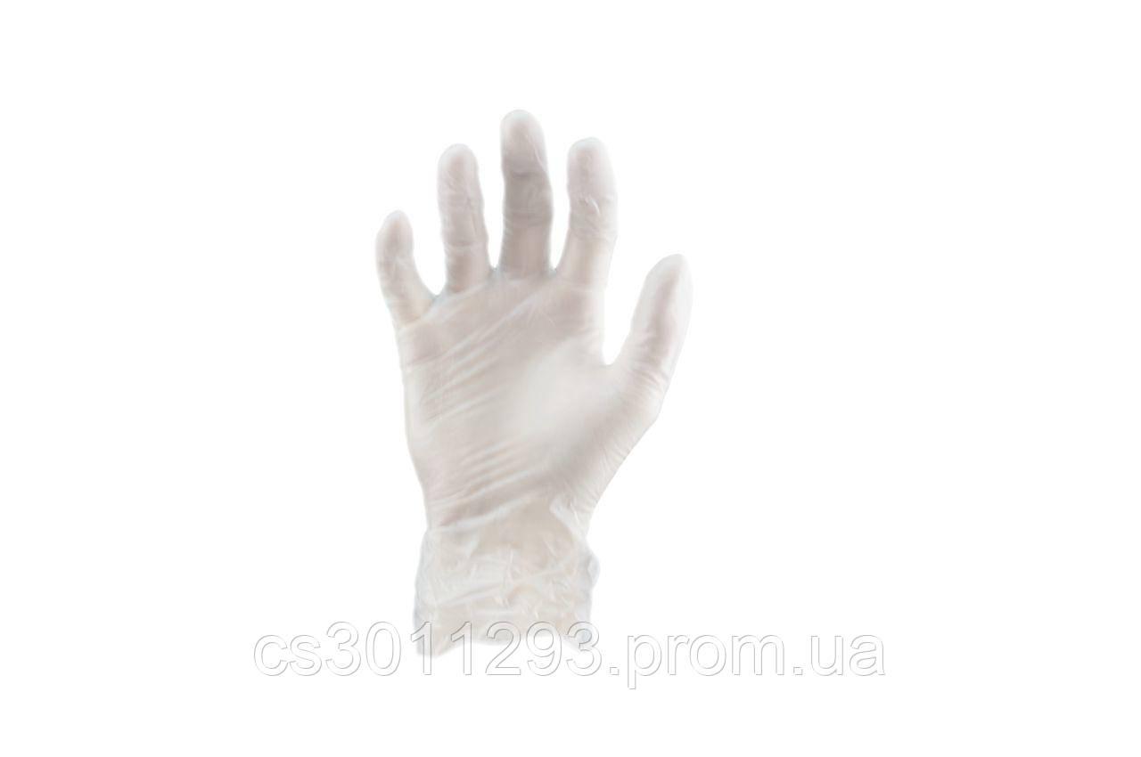 Перчатки Алиско - медицинские (белые) (L) (в пачке 100 перчаток)