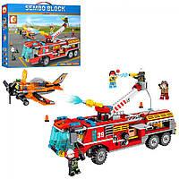 Конструктор пожежна техніка,літак,фігурки,580дет.,в кор-ці,47,5х36х7см №SD603039(12)
