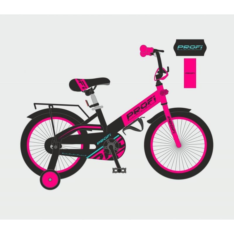 Детский двухколесный велосипед PROFI 16 дюймов (малиновый, для девочки), W16115-7