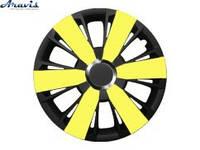 Колпаки R14 желтые с черным Argento