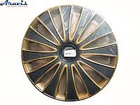 Авто колпаки для дисков на колеса R14 золото с черным GMK