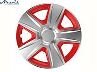Авто колпаки для дисков на колеса R14 красные с серым Espirit