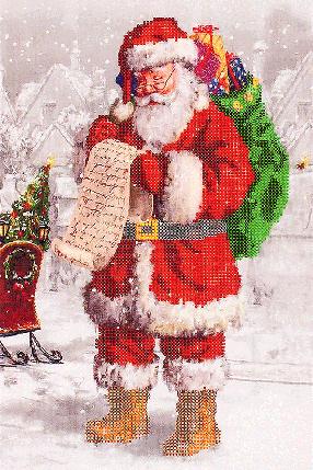 """Схема для вышивания бисером """"Дед мороз"""", фото 2"""