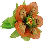Букет из мишек Оранжевый рай