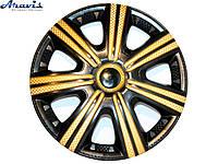 Колпаки R15 черные с золотом DTM