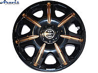 Колпаки R15 черные с золотом Opus