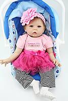 Силиконовая Коллекционная Кукла Реборн Reborn Девочка ( Виниловая Кукла ) Высота 55 см. Арт.340, фото 1
