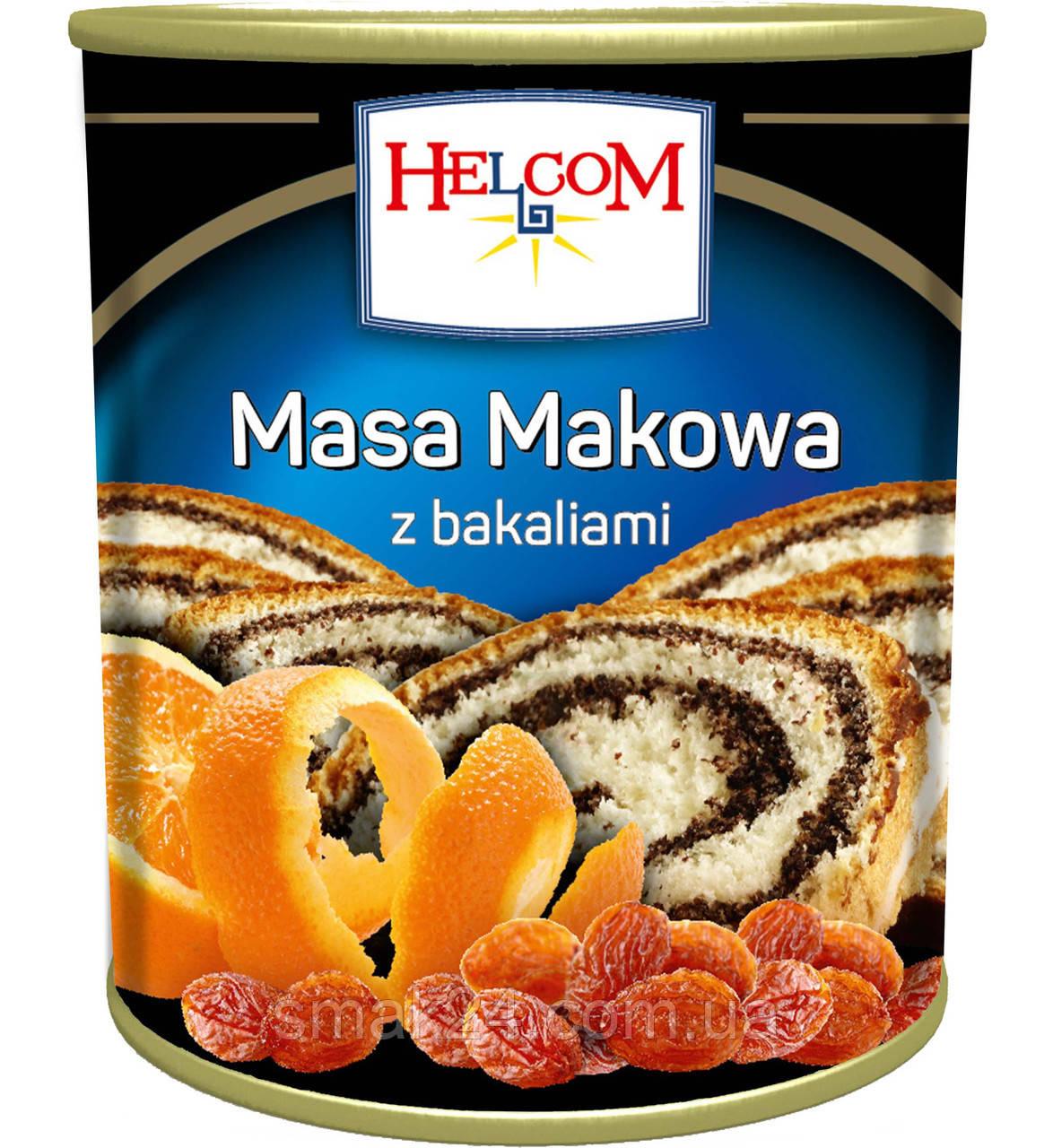 Маковая масса с изюмом и апельсином Helcom Польша 850г