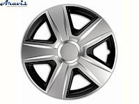 Авто колпаки для дисков на колеса R16 серые с черным Espirit