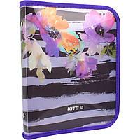 """Папка для зош. В5 """"Kite"""" №K18-203-2 """"Flowers"""" на блиск. об'ємн.(1)"""