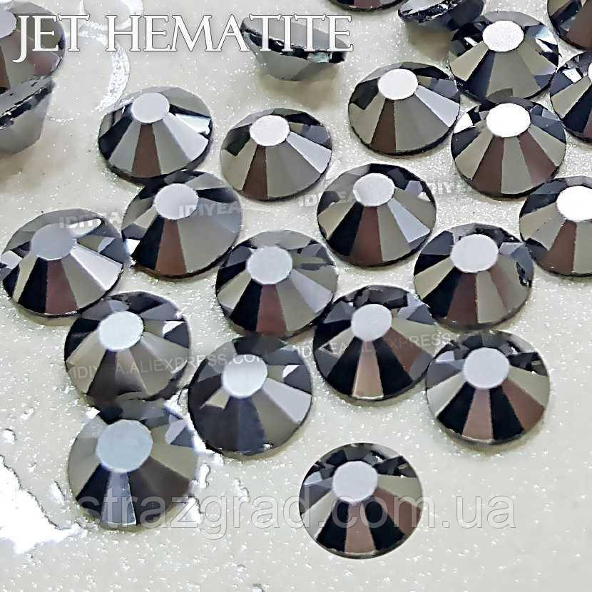 Стразы термоклеевые Premium Jet HEMATITE SS 16 Hot Fix 100 шт.
