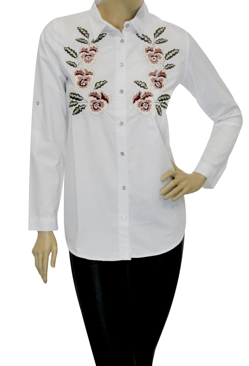 Жіноча сорочка з вишивкою бісером