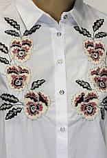 Жіноча сорочка з вишивкою бісером, фото 3
