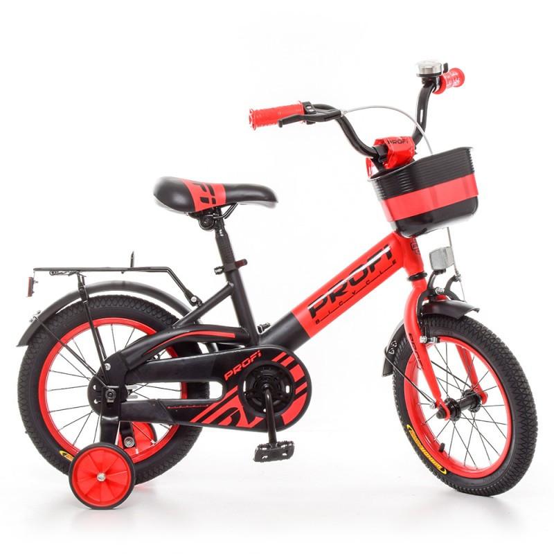 Детский двухколесный велосипед для мальчика PROFI 14 дюймов (черно-красный),OriginalW14115-5