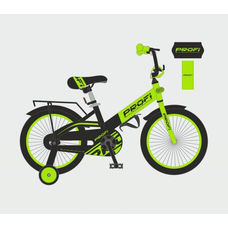 Детский двухколесный велосипед для мальчика PROFI 14 дюймов (салатовый),OriginalW14115-6