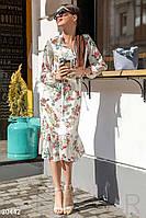 Шифоновое платье-миди
