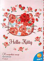 Цветная бумага бархатная(10лист/10цвет)А4 Хеллоу КиттиHK15-251K