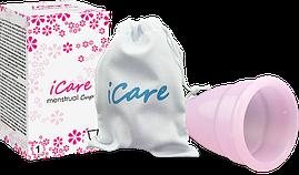 Менструальная чаша кап Icare из медицинского силикона S или L