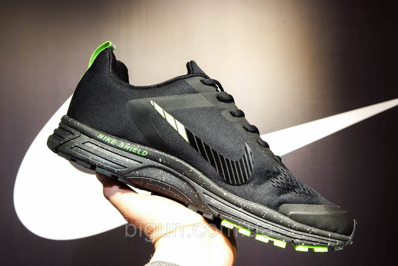 4419941a Мужские кроссовки Nike Air Zoom Structure 17 Black Green (найк аир зум 17,  черные