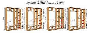 Шкаф-купе 2,1*0,45*2,4 (эшк-7214)