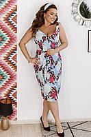 Женское платье коттон батал, фото 1