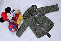 """Куртка детская демисезонная  """"Лента"""" на мальчика, р. 86-116 хаки, фото 1"""