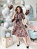 Платье рубашка БАТАЛ  принт в расцветках  461073, фото 4