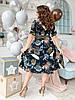 Платье рубашка БАТАЛ  принт в расцветках  461073, фото 6