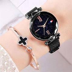 Часы Starry Sky Watch на магнитной застёжке. Звёздное небо, трендовая новинка