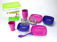 Набор посуды для пикника (ведро + 4 комплекта посуды) (цвет посуды подбирается) Алеана ALN-169042