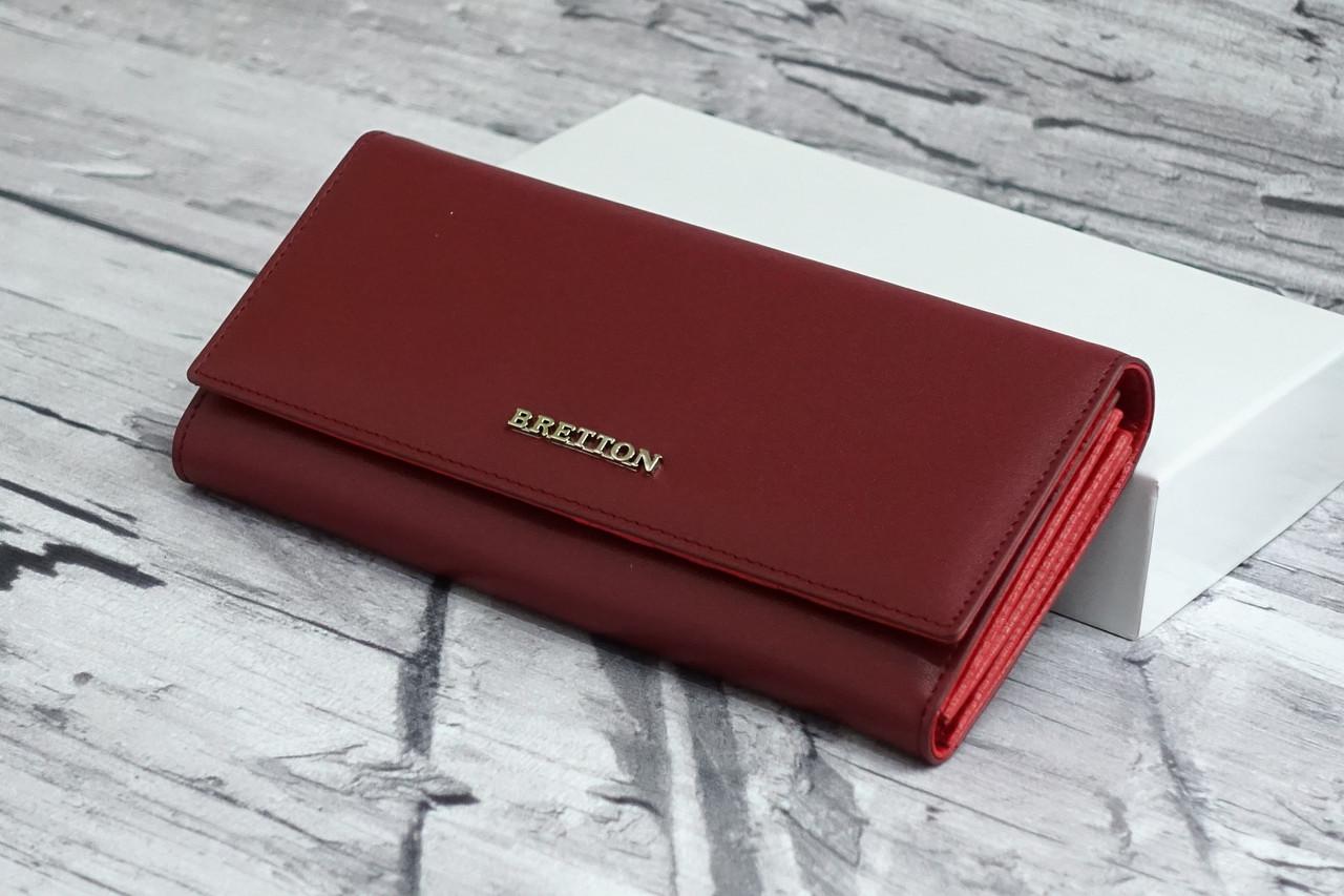Кошелек из натуральной кожи Bretton W7237 d.red
