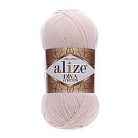 Пряжа для ручного вязания Alize DİVA STRETCH -(Ализе дива стрейч)   382 пудра