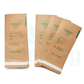 Крафт пакеты для стерилизации инструментов Медтест 75х150 мм (100 шт)