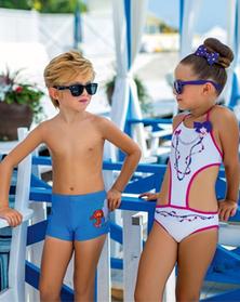 Пляжные плавки и купальники детские оптом