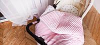 Плюшевый плед-одеяло, подушка и простынка