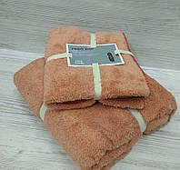 Подарочный набор из двух махровых полотенец (баня и лицо)