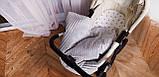 Набор для новорожденного в коляску  (одеяло, подушка, простынка), фото 4