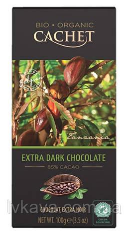Экстра черный  шоколад Cachet  85 % какао Organic , 100 гр, фото 2