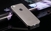 Силиконовый прозр-черный чехол для Iphone 5/5S, фото 1