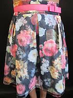 Красивые детские юбки с цветами., фото 1
