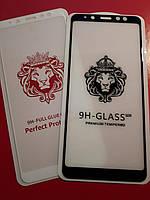 Защитное Стекло « Samsung A8 Plus 2018 - A730 » — Full Glue 9H   (тех.пак)