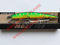 Воблер Miso-Bait Moby 120F (col. 922R) 13 г Точная копия DUO Moab
