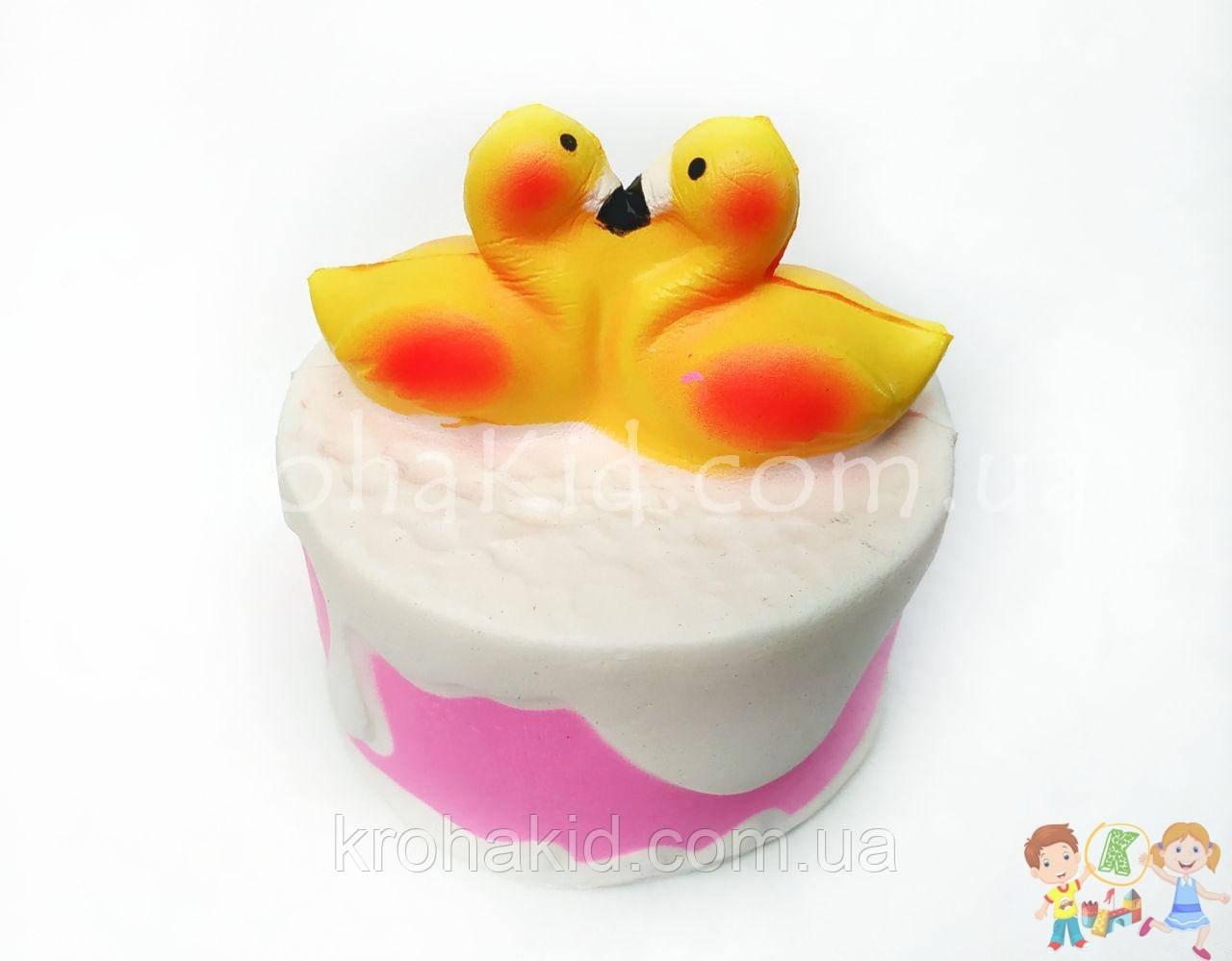 Сквиш тортик / торт с утками / Squishy / Сквуши / Игрушка-антистересс