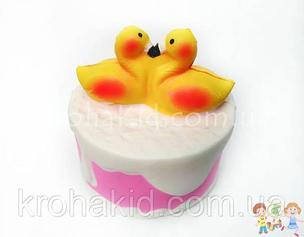 Сквиш тортик / торт с утками / Squishy / Сквуши / Игрушка-антистересс, фото 2