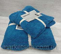 Подарочный набор из двух махровых полотенец (баня и лицо), фото 2